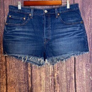LEVI'S 501 button fly high rise denim shorts 31